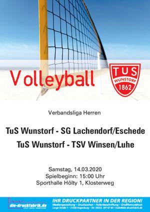 Plakat Heimspiel 14.03.2020 Verbandsliga Herren