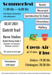 Plakat Sommerfest 2021